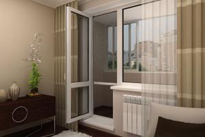 Балконная дверь из пластика