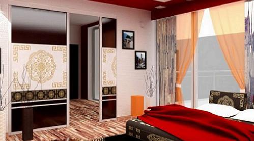 Раздвижные двери в спальне