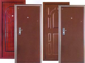 Готовая дверь из металла