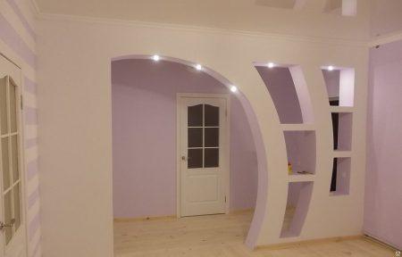 Пример арки из гипсокартона