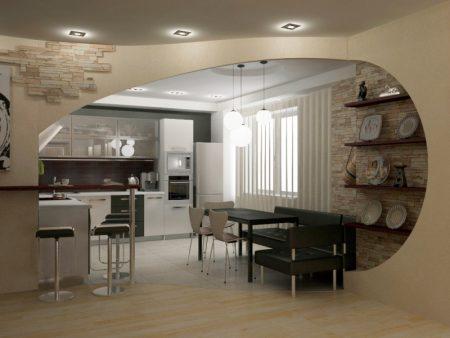 Красивая арка на кухню в доме