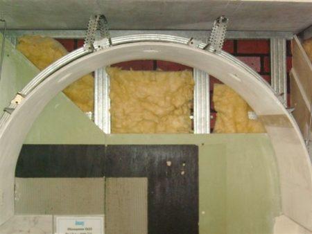 Обшивка арки в доме гипсокартоном