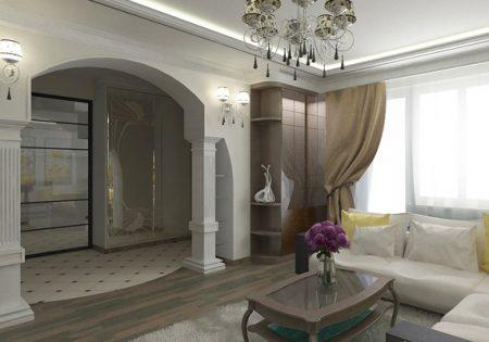 Пример арки в гостиной