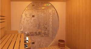 Нестандартная дверь в баню