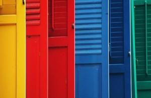 Цветные двери