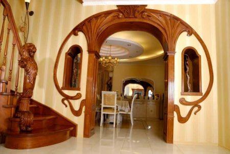 Декоративное оформление межкомнатной арки
