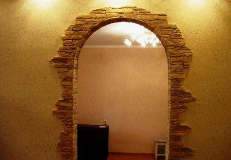 Пример декоративной отделки арки