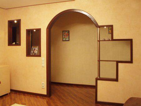Пример арки в интерьере дома