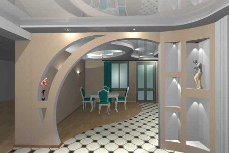 Дизайнерская арка в интерьере