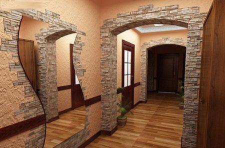 Пример отделки арки в квартире