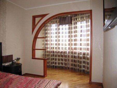 Пример дизайнерской арки в частном доме