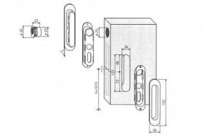 Способ установки ручки для двери-пенала
