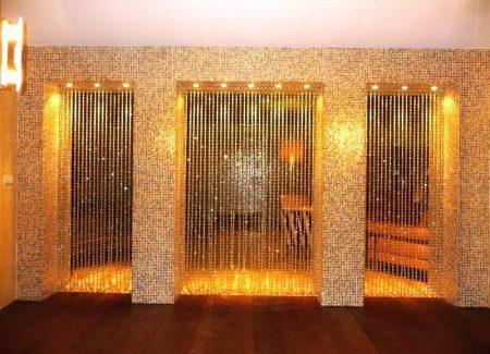 Деревянные шторки на арку