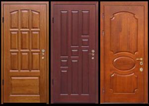 металлические двери в подъезд в видном