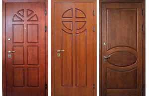 Отделка двери мдф