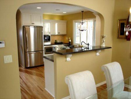 Пример арки на кухню в квартире