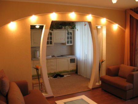Красивый дизайн арки в доме
