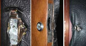 Двери после попытки взлома
