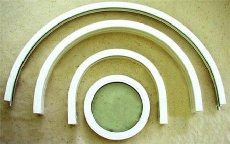 Пример гибкого уголка для монтажа арок