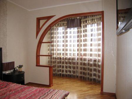 Вариант отделки арки в квартире