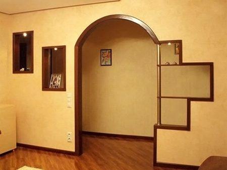 Пример красивой межкомнатной арки