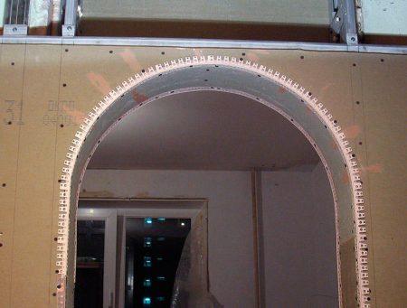 Подготовка к отделке арки