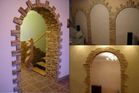Оформление арки в интерьере квартиры