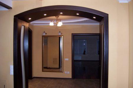Современный дизайн арки в доме