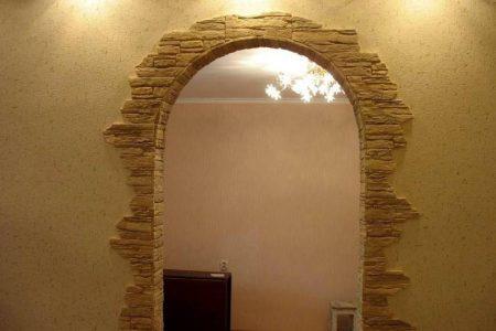 Вариант отделки арки в доме