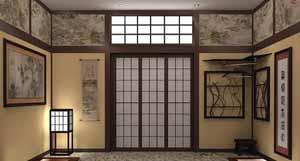Японский стиль в оформлении дверей