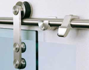 Роликовый механизм стеклянной двери