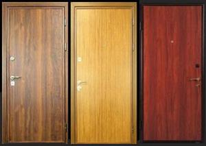 Пример отделки дверей из ДСП