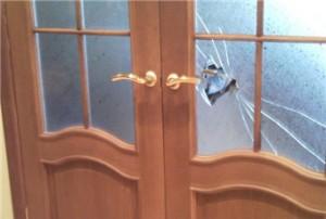 Дверь до ремонта